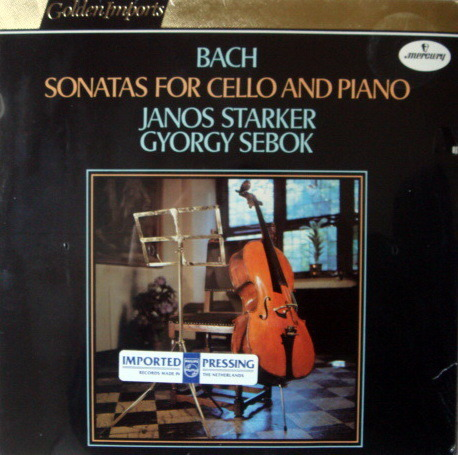 ★Sealed★ Mercury Golden Imports / JANOS STARKER, - Bach Cello Sonatas, Rare!