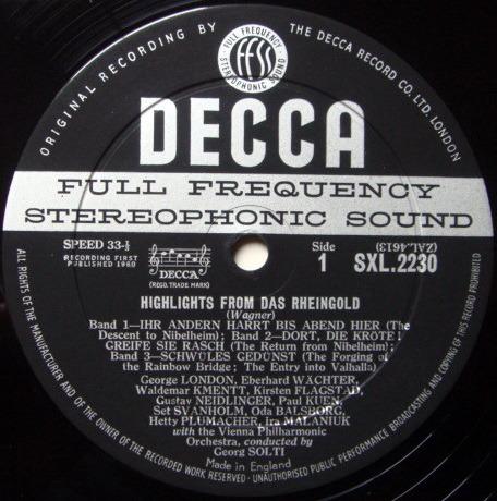 DECCA SXL-WB-ED1 / SOLTI, - Wagner Das Rheingold-Die Walkure, NM!