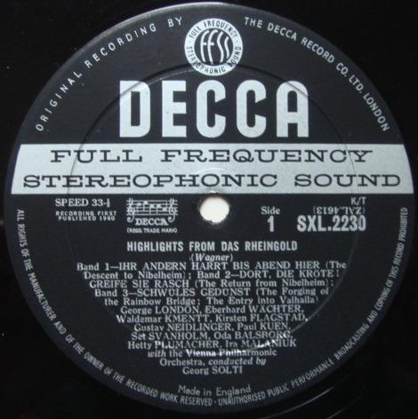 DECCA SXL-WB-ED1 / SOLTI, - Wagner Das Rheingold-Die Walkure, NM-!