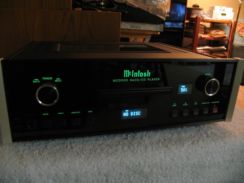 MCINTOSH  MCD500 VERY HI-END SACD/CD PLAYER