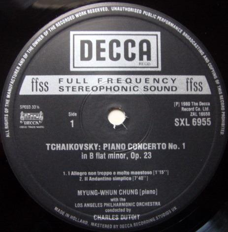 DECCA SXL-NB-HD2 / CHUNG-DETOIT, - Tchaikovsky Piano Concerto No.1, MINT!