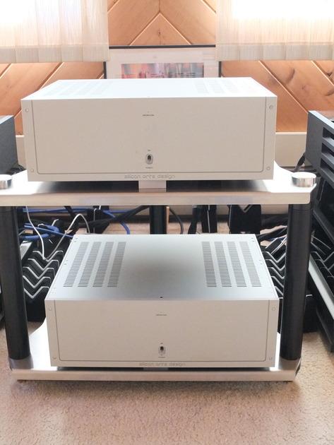 Concert Fidelity/Silicon Arts Design ZL 120 Mono Block Amps Silver