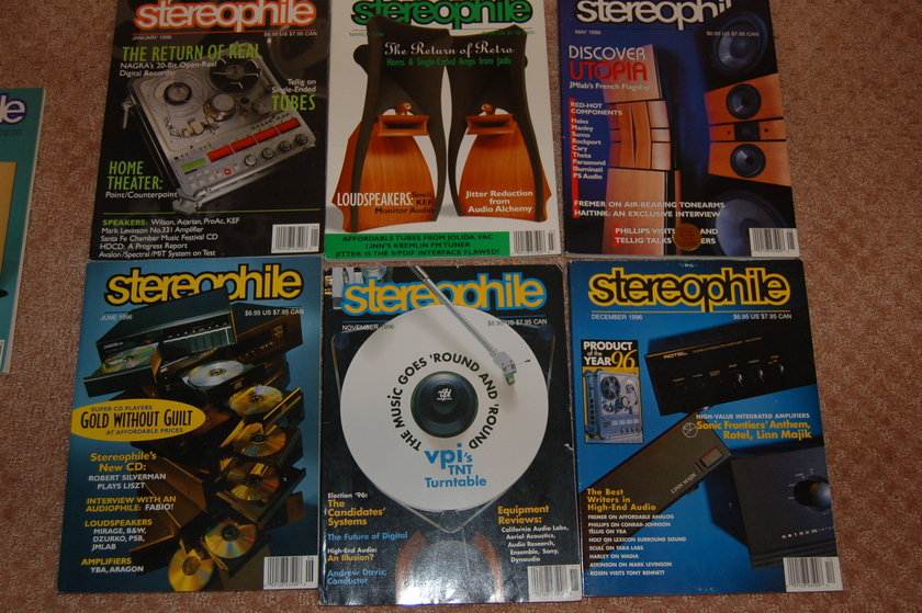 Stereophile magazine - 1996 Only 6 issues