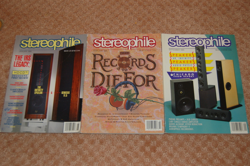Stereophile magazine - 1995 Jan, Feb, Sep 3 issues