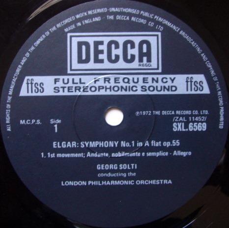 DECCA SXL-NB-ED5 / SOLTI, - Elgar Symphony No.1, MINT!