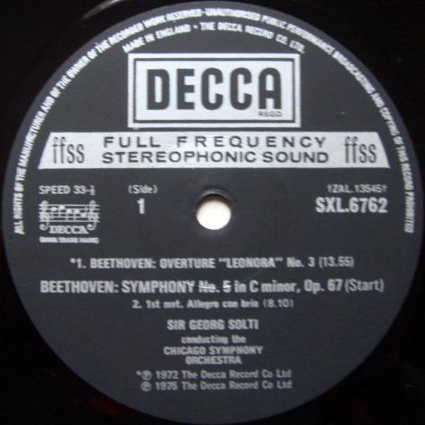 DECCA SXL-NB-ED4 / SOLTI, - Beethoven Symphony No.5, MINT!