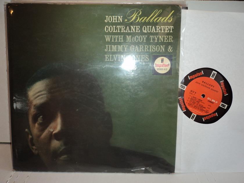 John Coltrane Quartet  - Ballads  1962 Impulse A-32 1st stereo press