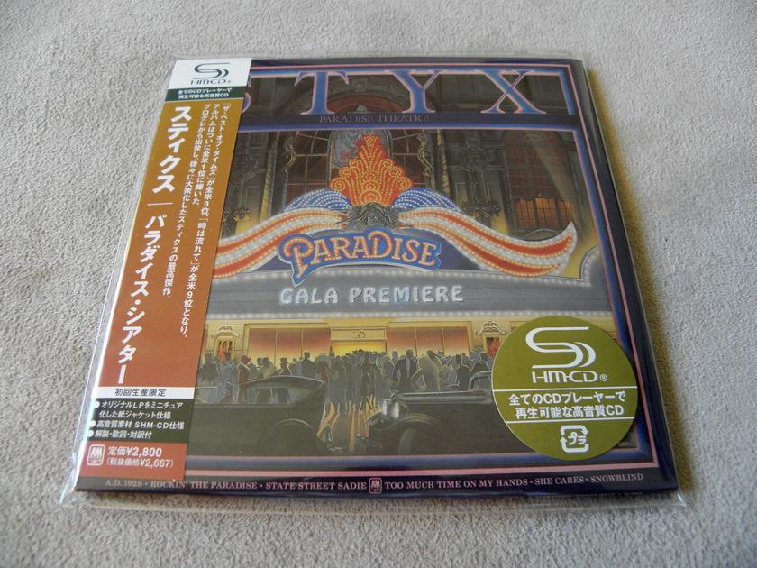 Styx Paradise Theatre Japan SHM -  Mini-LP Sleeve CD