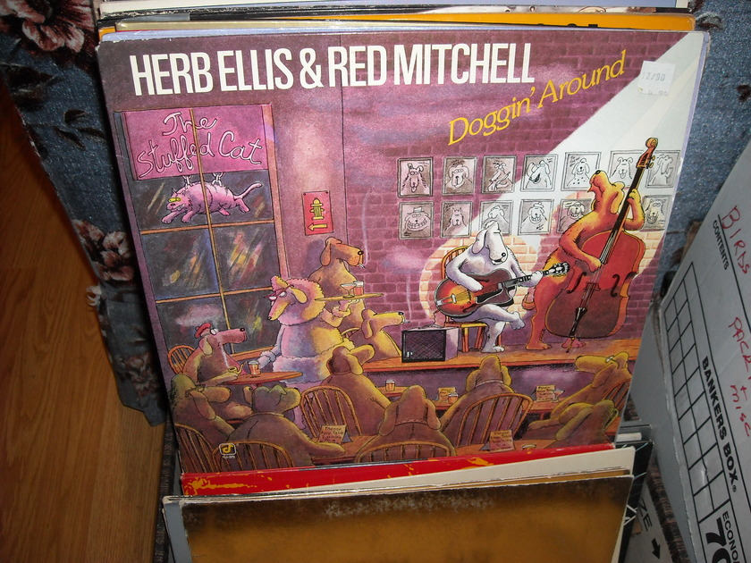 Herb Ellis & Red Mitchell - Doggin' Around Concord Jazz  LP (c)