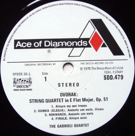 DECCA SDD / GABRIELI QT, - Dvorak String Quartets, MINT!