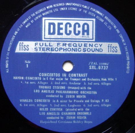 DECCA SXL-NB / MEHTA, - Concertos in Contrast, NM!