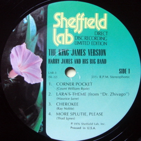 ★Audiophile★ Sheffield Lab / HARRY JAMES, - The King James Version, MINT!
