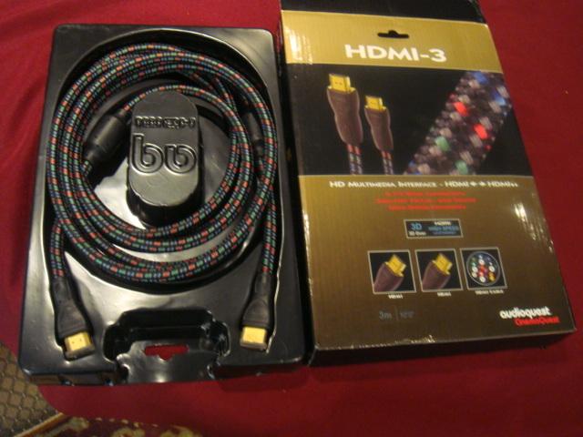 audioquest HDMI-3 3M interconnect cable