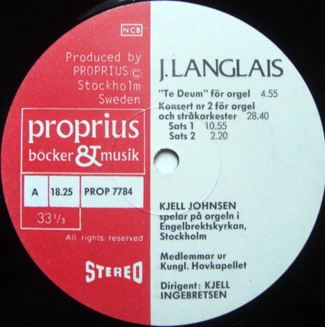 ★Audiophile★ Proprius / JOHNSEN, - Honegger Fugue & Choral, MINT!