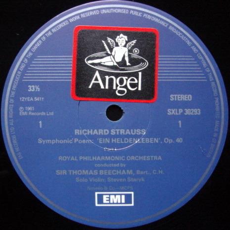 EMI HMV STAMP-DOG / BEECHAM, - R. Strauss Ein Heldenleben, MINT!
