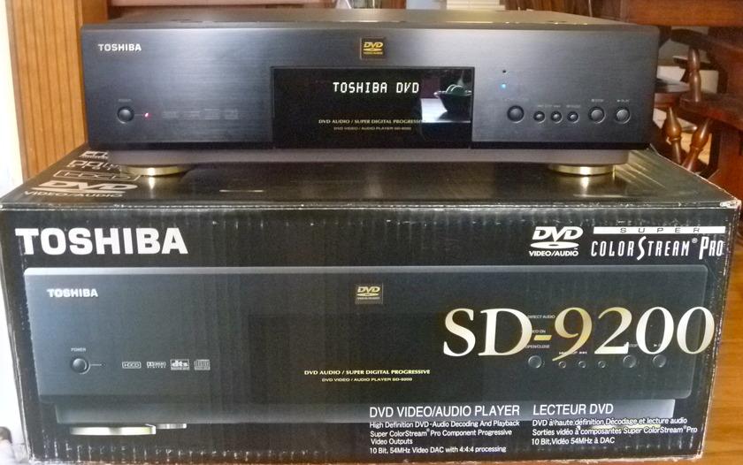 Toshiba SD9200 DVD/DVD AUDIO PLAYER