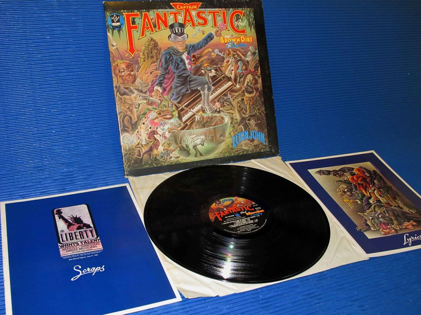 "ELTON JOHN - - ""Captain Fantastic"" -  MCA 1975 w/scraps & lyric books"