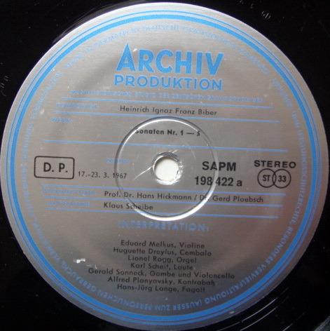 1st Press Archiv / MELKUS, - Biber Sonatas of the Rosary,  MINT, 2 LP Set!