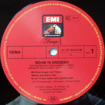 EMI HMV / KARL BOHM, - Bohm in Dresden Vol.4, MINT, 6LP Box Set!