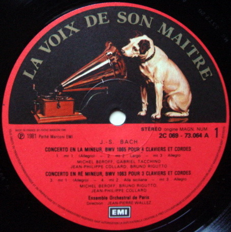 EMI HMV / BEROFF-COLLARD-WALLEZ, - Bach Concertos for 3 & 4 Pianos, MINT!
