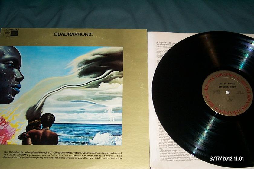 Miles Davis - Bitches Brew 2 LP SQ Quadraphonic NM