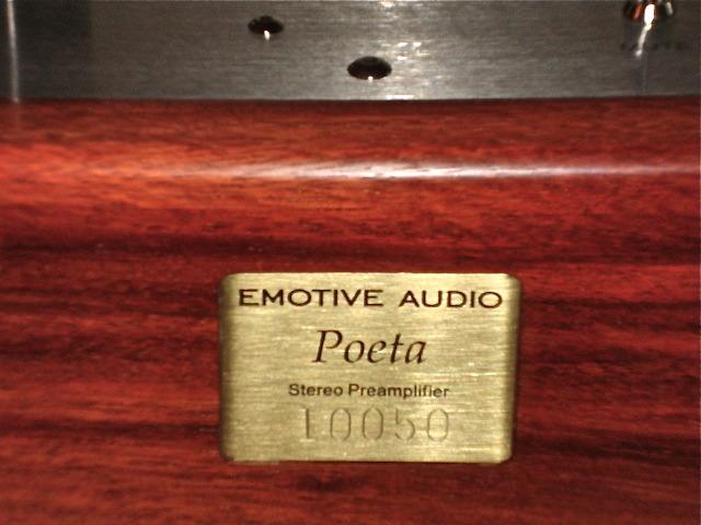 EMOTIVE AUDIO DESIGNS POETA PREAMPLIFIER mint condition