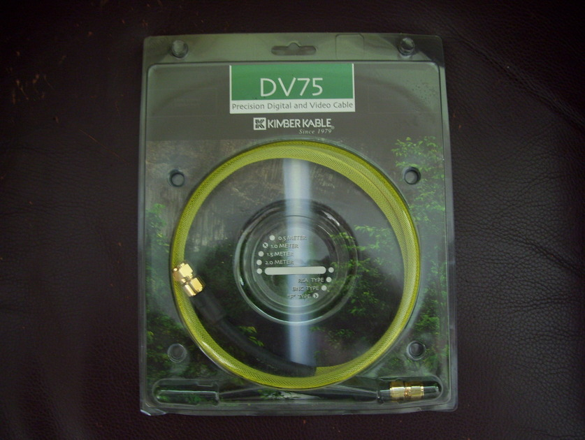 """Kimber DV75 Digital/Video cable w/""""F"""" type connector"""