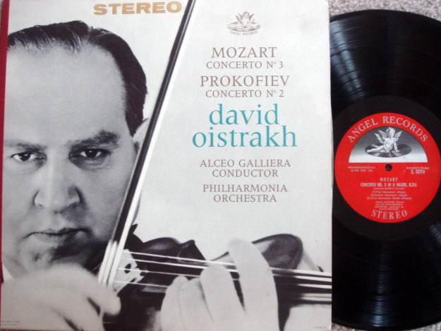 EMI Angel Semi-Circle / OISTRAKH, - Mozart Violin Concerto No.3, MINT!
