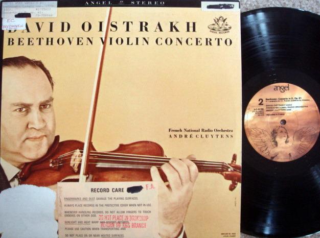 EMI Angel / OISTRAKH, - Beethoven Violin Concerto, NM!