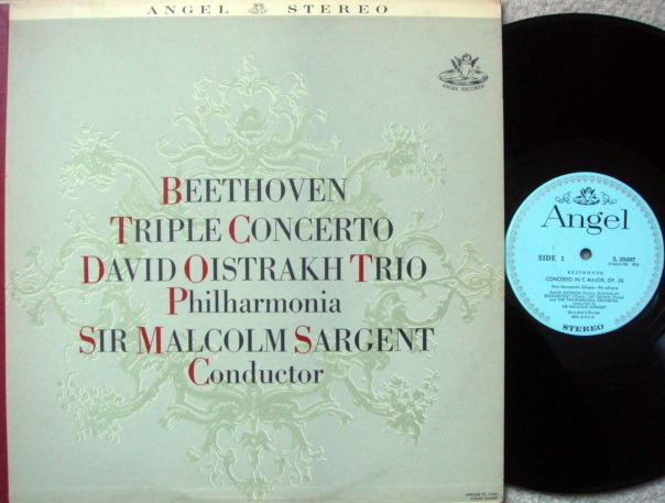 EMI Angel Blue / OISTRAKH, - Beethoven Triple Concerto, NM!