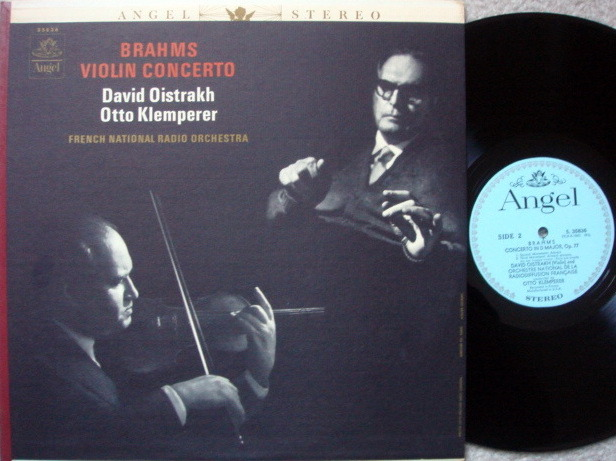 EMI Angel Blue / OISTRAKH/KLEMPERER, - Brahms Violin Concerto, MINT!