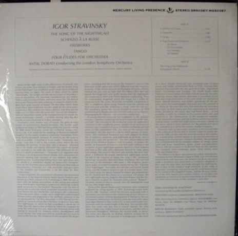 ★Sealed★ Mercury / DORATI, - Stravinsky Song of Nightingale, Original!