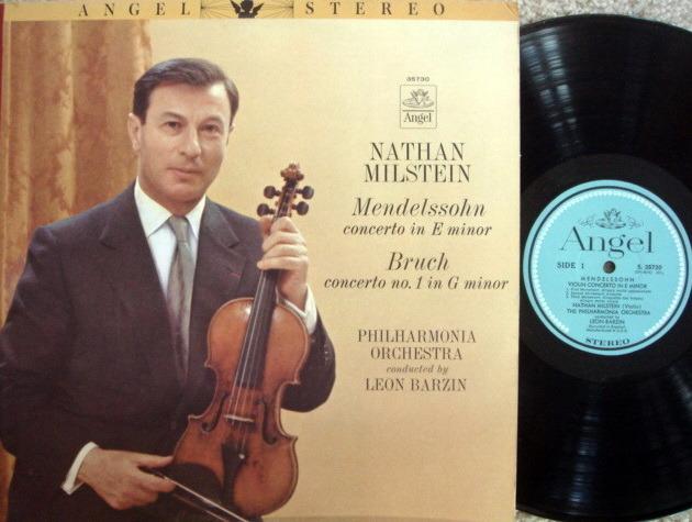 EMI Angel Blue / MILSTEIN, - Mendelssohn-Bruch Violin Conertos, NM!