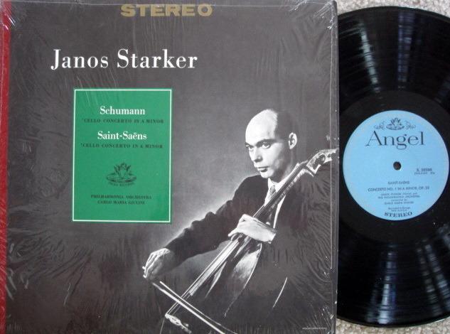 EMI Angel Blue / JANOS STARKER, - Schumann-Saint-Saens Cello Concertos, MINT!