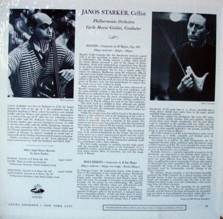EMI Angel / JANOS STARKER, - Boccherini-Haydn haydn cello concertos, MINT!