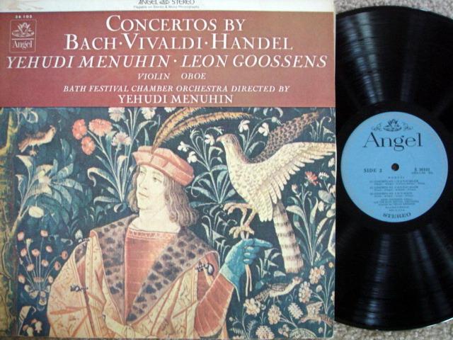 EMI Angel Blue / MENUHIN, - Bach-Vivaldi-Handel Concertos, MINT!