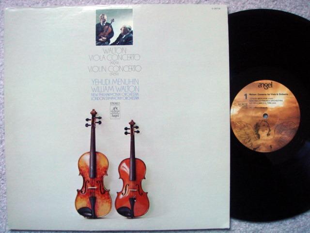EMI Angel / MENUHIN, - Walton Violin & Viola Conertos,  MINT!