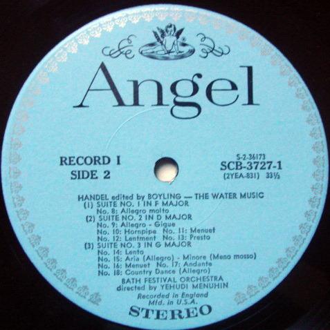 EMI Angel Blue / MENUHIN, - Portrait of the Artist, MINT, 3LP Promo Box Set!