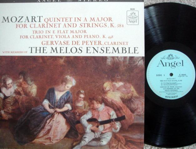 EMI Angel Blue / MELOS ENSEMBLE, - Mozart Quintet & Trio,  MINT!