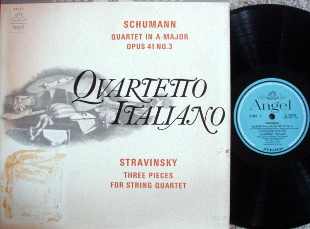 EMI Angel Blue / QUARTETTO ITALIANO, - Schumann-Stravinsky Quartets,  MINT!