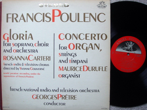 EMI Angel Semi-Circle / PRETRE, - Poulenc Gloria, Concerto for Organ,  MINT!