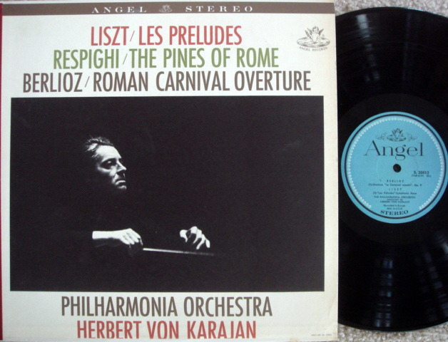 EMI Angel Blue / KARAJAN, - Respighi The Pines of Rome, MINT!