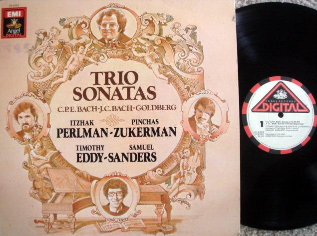 EMI Angel Digital / PERLMAN-ZUKERMAN-SANDERS, - Bach Trio Sonatas, MINT!