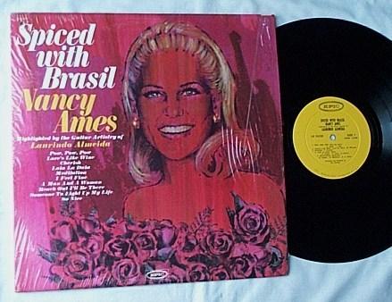 Nancy Ames Lp- - Spiced with Brasil- rare orig 1967 mono epic album