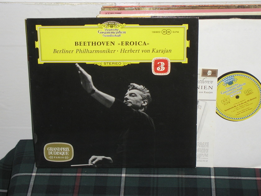 Von Karajan/BPO - Beethoven Nr.3 Eroica   LP dgg german import  press