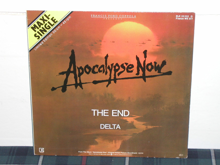"""The Doors - """"The End"""" 45RPM Apocalypse Now GERMAN Import 12er"""