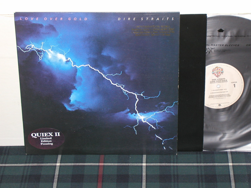 Dire Straits - Love Over Gold QUIEX II Promo w/gold stamp TAS