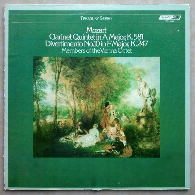London ffrr/Vienna Octet/Mozart - Clarinet Quintet K.581, Divertimento No. 10 K.247 / NM