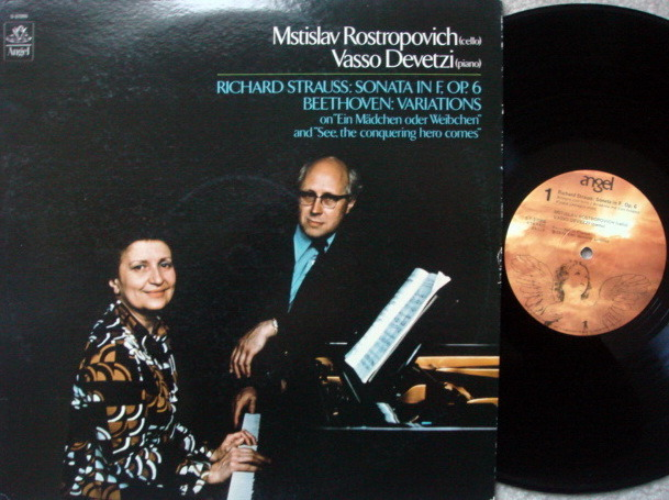 EMI Angel / ROSTROPOVICH-DEVETZI, - Strauss Cello Sonata, Beethoven Variations, MINT!