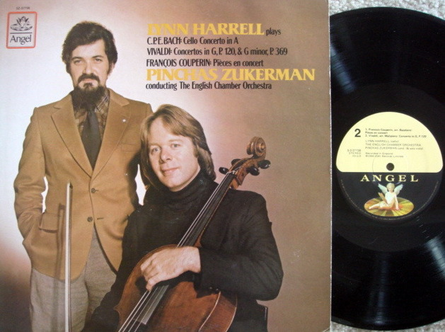 EMI Angel / HARRELL-ZUKERMAN, - Bach-Vivaldi Cello Conertos,  MINT!
